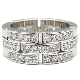 Cartier Half Diamond 18k White Gold maillon panthère Ring