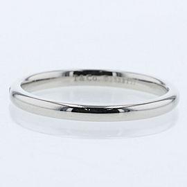 TIFFANY & Co. platinum/1p diamond Stacking band Ring