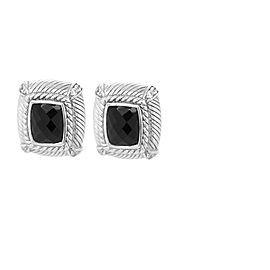 Judith Ripka Sterling Silver and Onyx Earrings