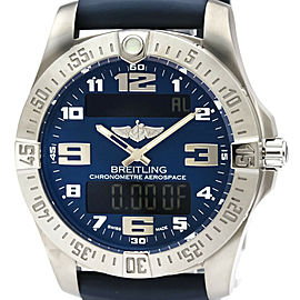 Polished BREITLING Aerospace Evo Titanium Quartz Mens Watch E79363