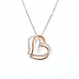 18k pink/white gold Diamond Necklace