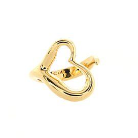 Tiffany & Co. Elsa Peretti Open Heart Ring 18K Yellow Gold Small