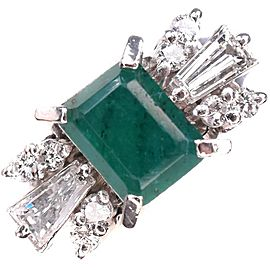 Emerald Platinum/Diamond Ring NST-393