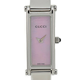 GUCCI 1500L Pink shell Dial Quartz Ladies Watch #HK-307