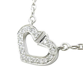 Cartier 750 White Gold C Heart Necklace
