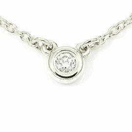 Tiffany & Co. Sterling Silver, Diamond By The Yard Pendant Necklace CHAT-209