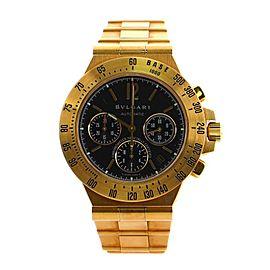 Bvlgari Diagono Professional Pro Terra Chronograph Automatic Watch Yellow Gold 40