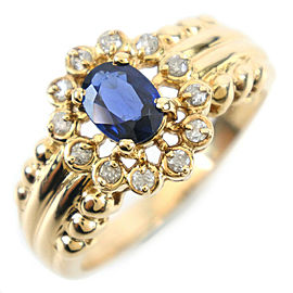 18k yellow gold/diamond/sapphire Ring