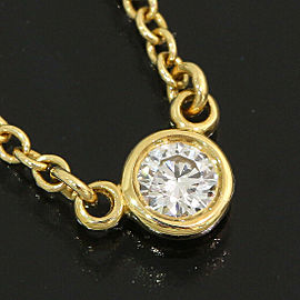Tiffany & Co. 18K Yellow Gold Elsa Peretti Diamond by the Yard Necklace