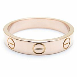 CARTIER 18K Pink Gold Mini Love Ring