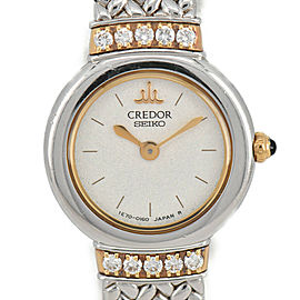 SEIKO Credor 1E70-0100 10P Diamond 18K/SS Quartz Women's Watch
