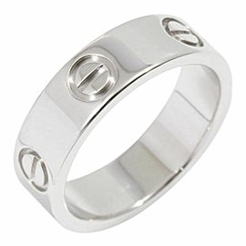 Cartier 18K White Gold Love Band Ring CHAT-114