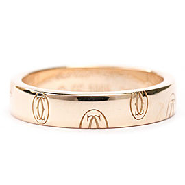 CARTIER 18K Pink Gold Happy Birthday Band Ring