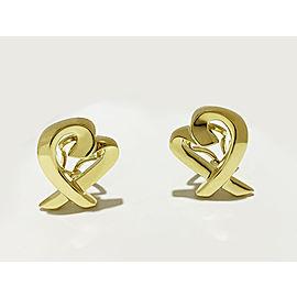 Tiffany & Co. Paloma Picasso Yellow Gold Loving Heart Earrings