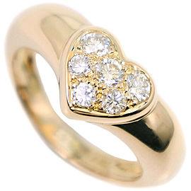 TIFFANY & Co K18 yellow gold/diamond 6P diamond heart Ring NST-33