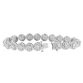 14K White Gold 9.5ctw. Diamond Bracelet