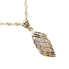 Necklace K18 yellow gold/diamond unisex