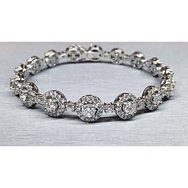18K White Gold 6.50ctw Tennis Bracelet