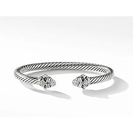 David Yurman Sterling Silver Renaissance Bracelet with Diamonds