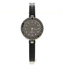 Bvlgari B.Zero1 Bracelet Quartz Watch Stainless Steel and Rubber with Black Diamond Bezel 22