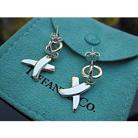Tiffany & Co Silver RARE Picasso Kiss X Dangle Dangling Earring NST-748