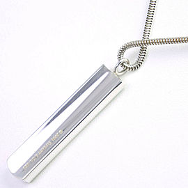 TIFFANY&Co Silver925 1837 bar Necklace