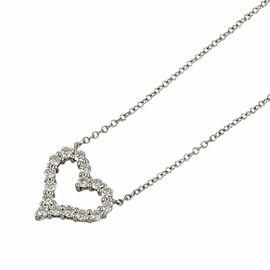 TIFFANY&Co. 950 platinum Diamond Sentimental heart Necklace CHAT-956