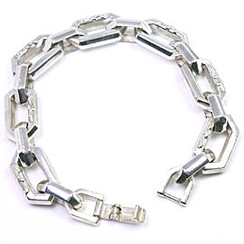 Silver Chain Ble Rubbed T Bracalet