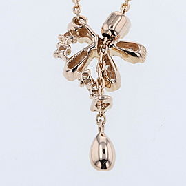 VANDOME AOYAMA 18KRose Gold / diamond Flower Necklace TBRK-250