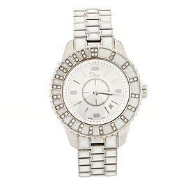 Christian Dior Christal Quartz Watch Stainless Steel and Sapphire Crystals with Diamond Bezel 33