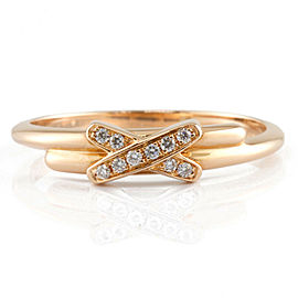 Chaumet 18K Pink Gold Diamond cross Judu Lian Ring CHAT-732