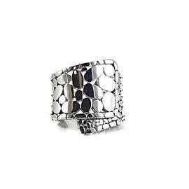John Hardy 925 Sterling Silver Wide Kali Overlap Cuff Bracelet