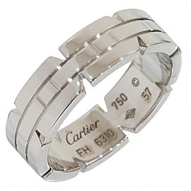 Cartier Tank Francise 18K White Gold Ring Size 8