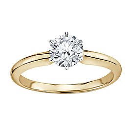 14k Yellow Gold 1.01ct Diamond Solitaire Engagement Ring Size 6.5