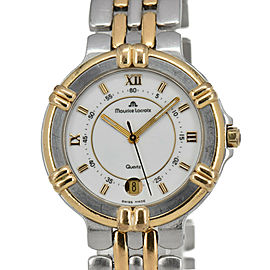 MAURICE LACROIX Calypso 95327 White Dial SS/GP Quartz Men's Watch