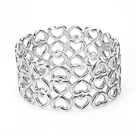 Tiffany & Co. Paloma Picasso 925 Sterling Silver Heart Ring Size 10