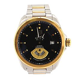 Tag Heuer Grand Carrera Calibre 6 Chronometer Automatic Watch Stainless Steel and Yellow Gold 40