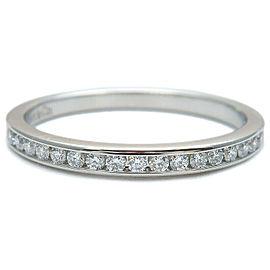 Tiffany & Co. Diamond Platinum Half Circle Channel-set Ring