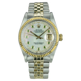 Rolex Datejust 16013 Stainless Steel & 18K Yellow Gold 36mm Mens Watch