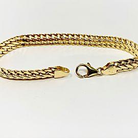14k Yellow Gold Cuban Curb Link Bracelet