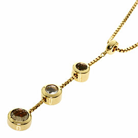 CELINE 18K Yellow Gold Quartz Necklace TNN-2024