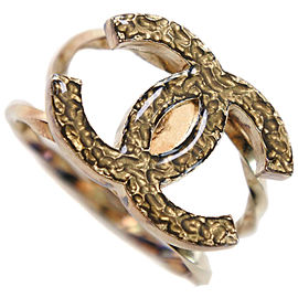 CHANEL Gold Plated COCO Mark Ring