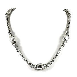 John Hardy 925 Sterling Silver Palu Station Necklace