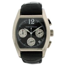 Girard Perregaux Richeville 18K White Gold & Leather 37mm Watch