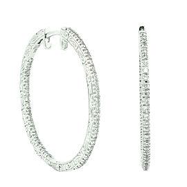 Penny Preville 18K White Gold & Diamond Hoop Earrings