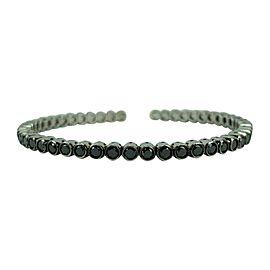 18k White Gold and 3.4ct Black Diamond Flex Bangle Bracelet