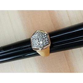 14K Yellow & White Gold Diamond Ring Size 8.25