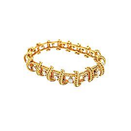 Tiffany & Co. Schlumberger 18 Karat Gold and Diamond Bracelet
