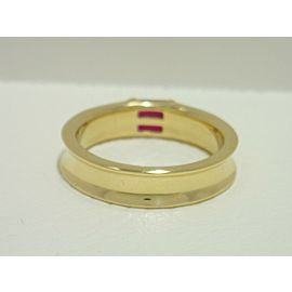 TIFFANY & CO. 18k yellow gold band ring with ruby Ring