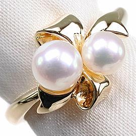 MIKIMOTO Pearl/18k yellow gold Ring